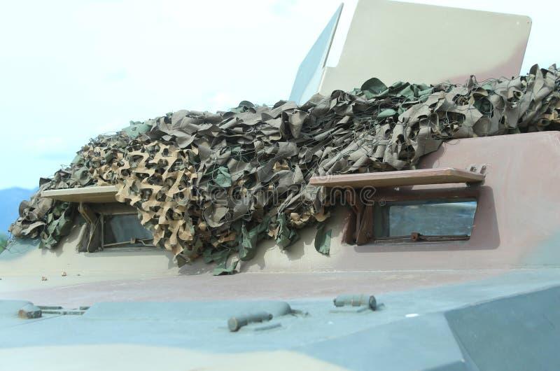 Воинская тележка Camo для полетов войны стоковое фото rf