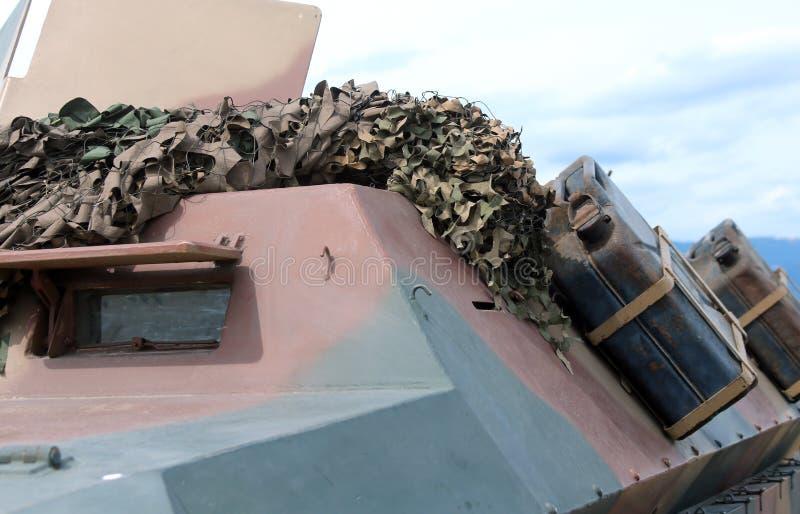 Воинская тележка Camo для полетов войны стоковые фотографии rf