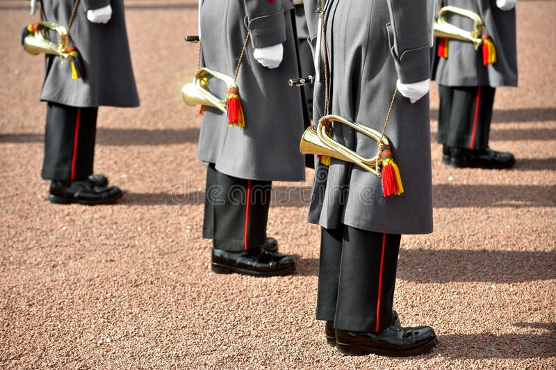 Воинская форма оркестра стоковые фотографии rf