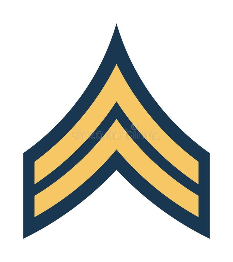 Воинские звания и Insignia Нашивки и шевроны армии иллюстрация штока
