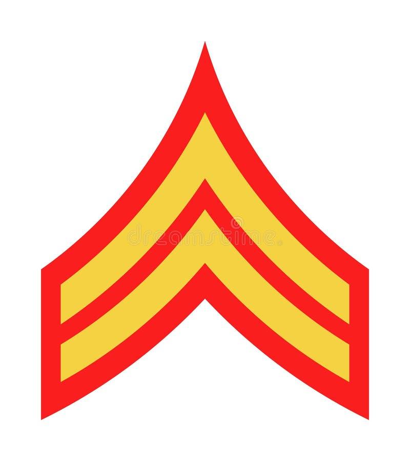 Воинские звания и Insignia Нашивки и шевроны армии иллюстрация вектора
