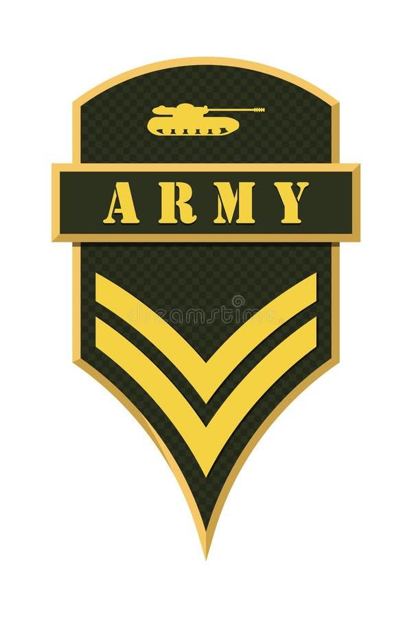 Воинские звания и Insignia Нашивки и шевроны армии бесплатная иллюстрация