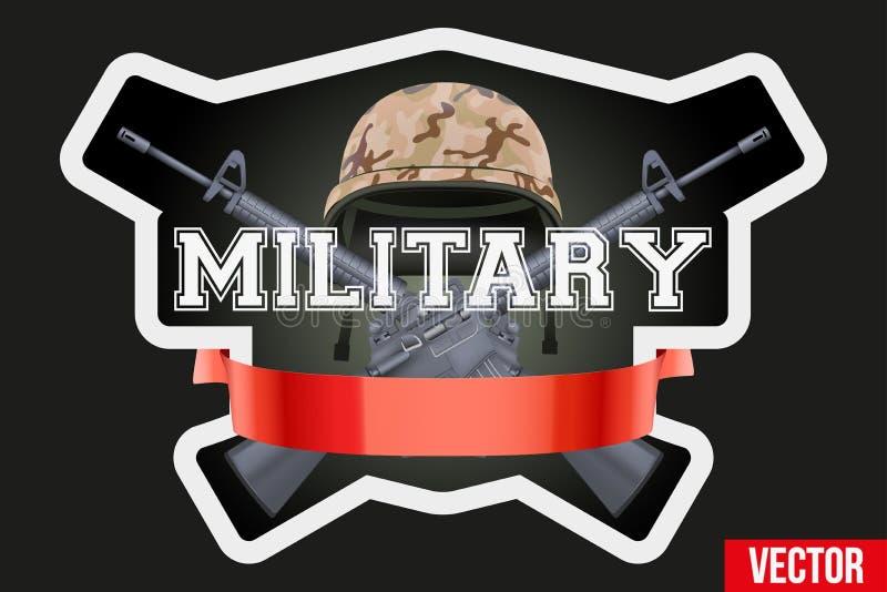 Воинские значки клуба или компании и логотип ярлыков иллюстрация вектора