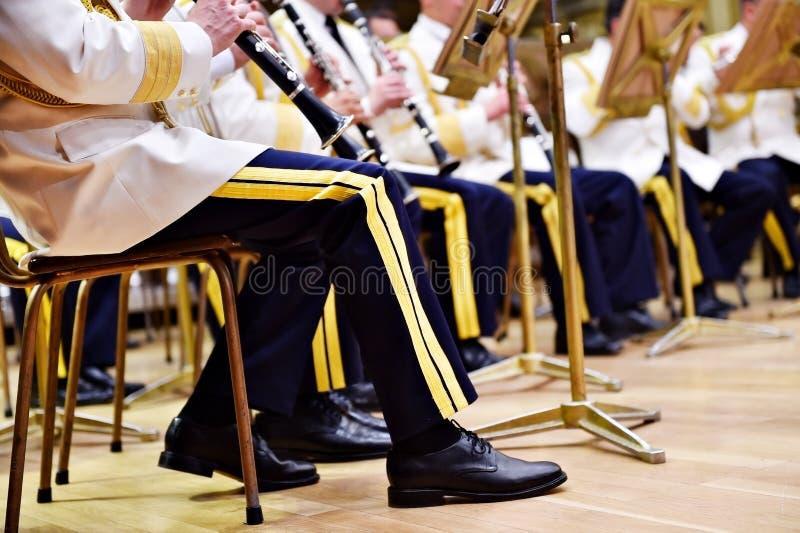 Воинские формы оркестра стоковое фото