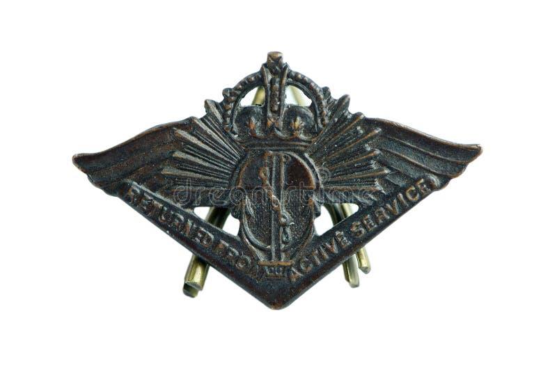 Воинский значок стоковое фото rf