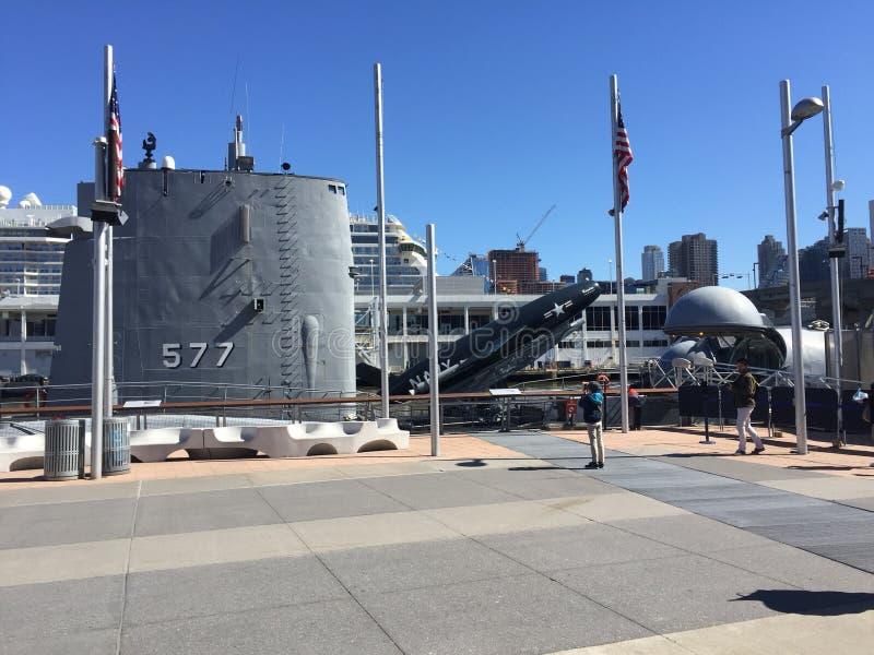 Воинский линкор подводной лодки стоковая фотография rf