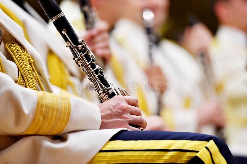 Воинский оркестр во время концерта стоковая фотография rf