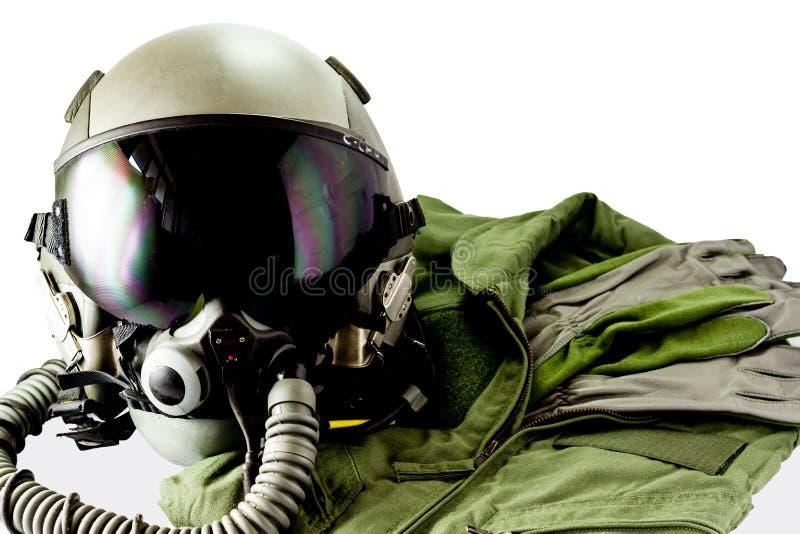 Воинский пилотный костюм полета стоковое фото rf