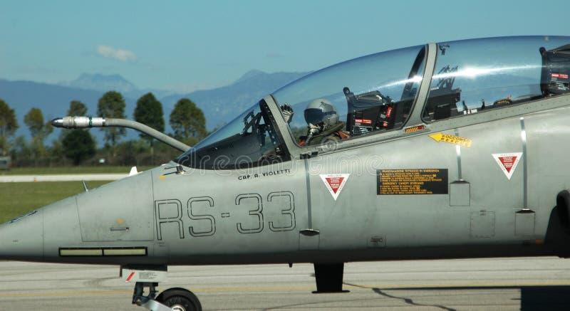 Воинский пилот итальянской военновоздушной силы стоковые изображения rf