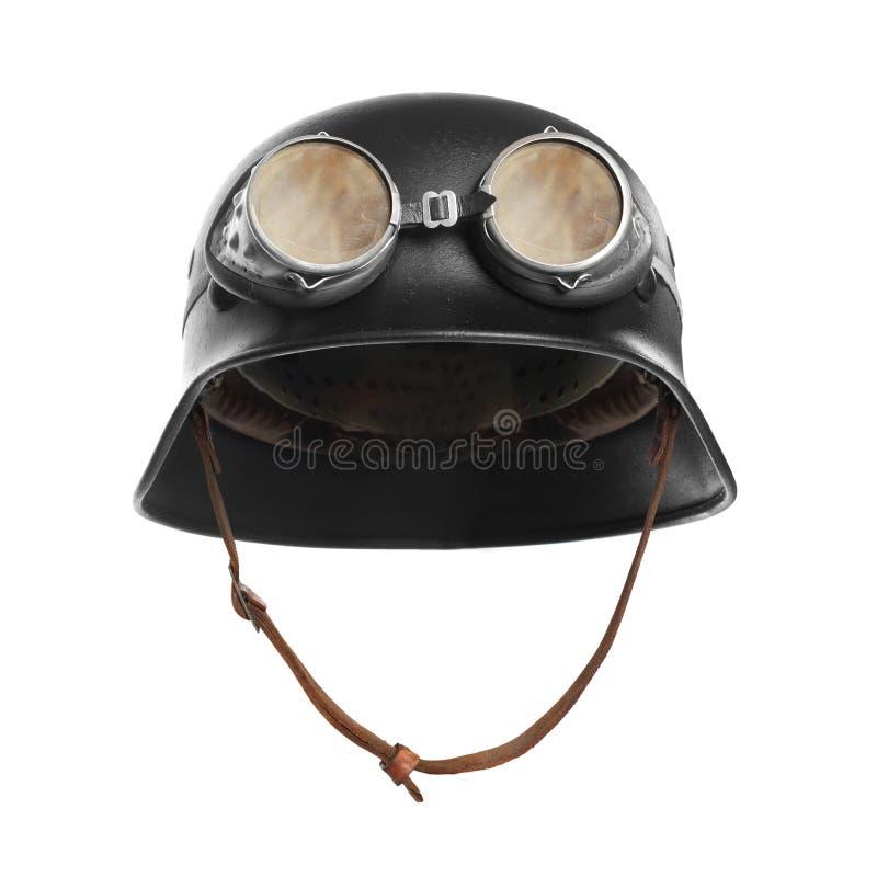 Воинский шлем мотоцикла стоковое фото