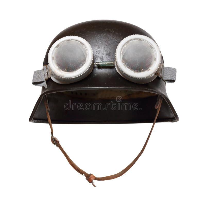 Воинский шлем мотоцикла стоковые изображения