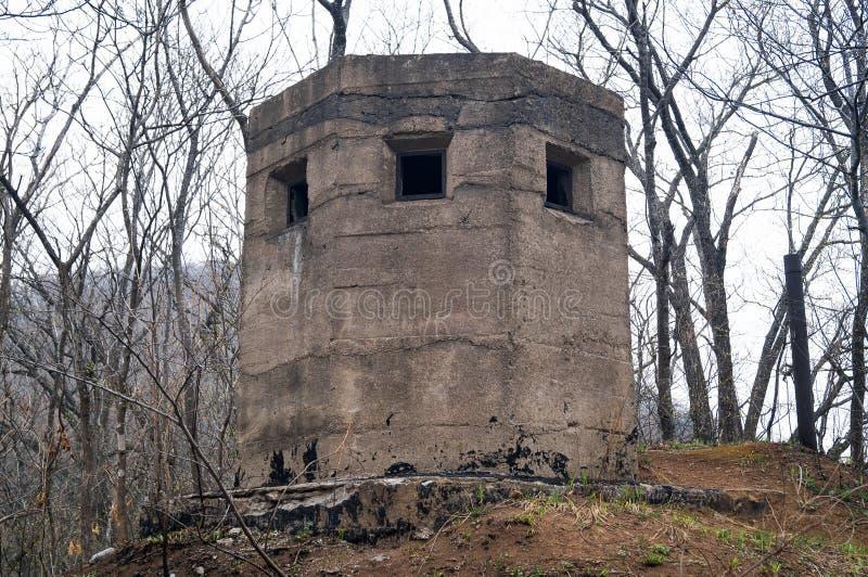 Воинское бетонное оборонительное сооружение стоковая фотография rf