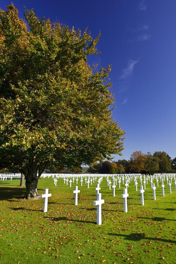 Воинское кладбище henri-Chapelle, Бельгия стоковые изображения rf