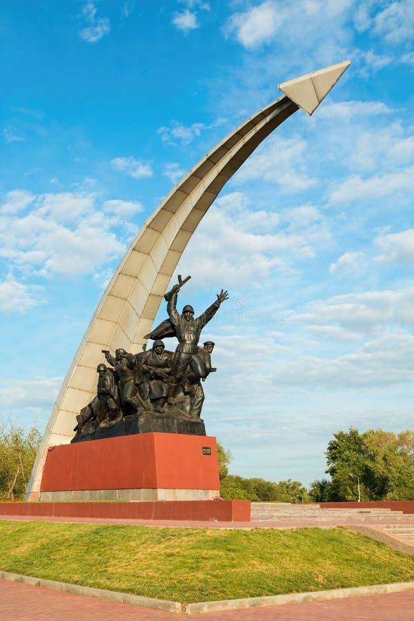 воины памятника советские к стоковая фотография rf