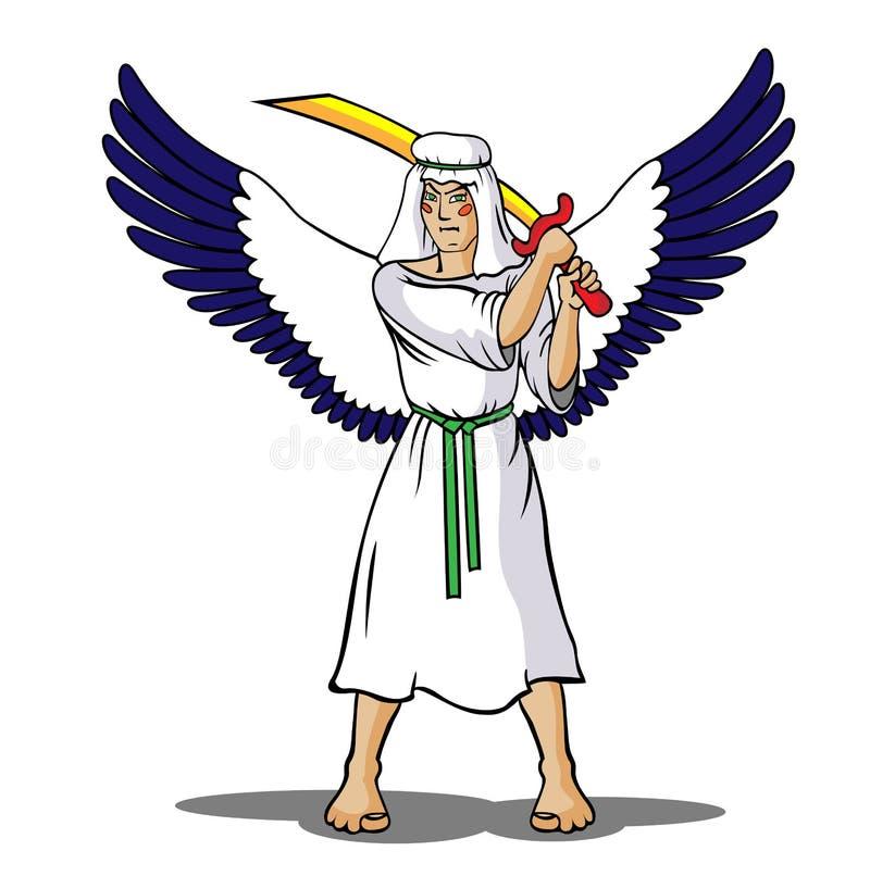 воин ангела иллюстрация штока