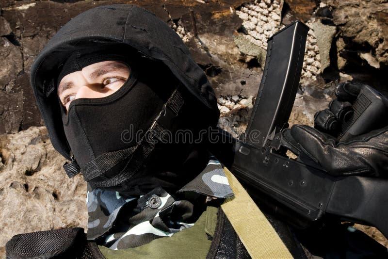 воин винтовки предохранителя стоковые изображения