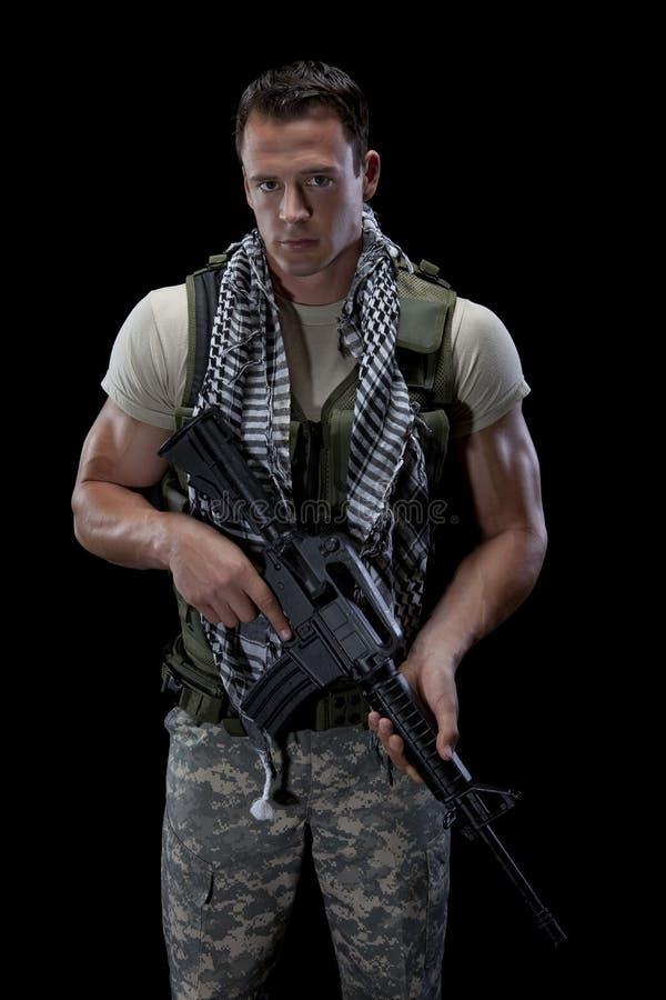 воин винтовки стоковые фотографии rf