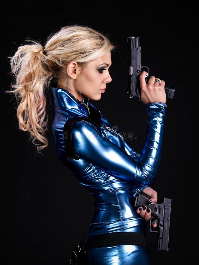 воин девушки стоковое изображение
