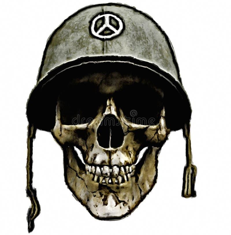 воин шлема американской армии мертвый иллюстрация штока