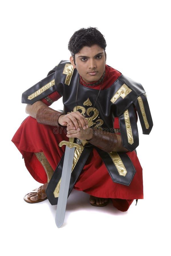воин costume мыжской модельный римский стоковые фотографии rf