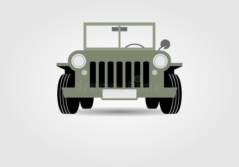 воиска автомобиля с дороги иллюстрация штока