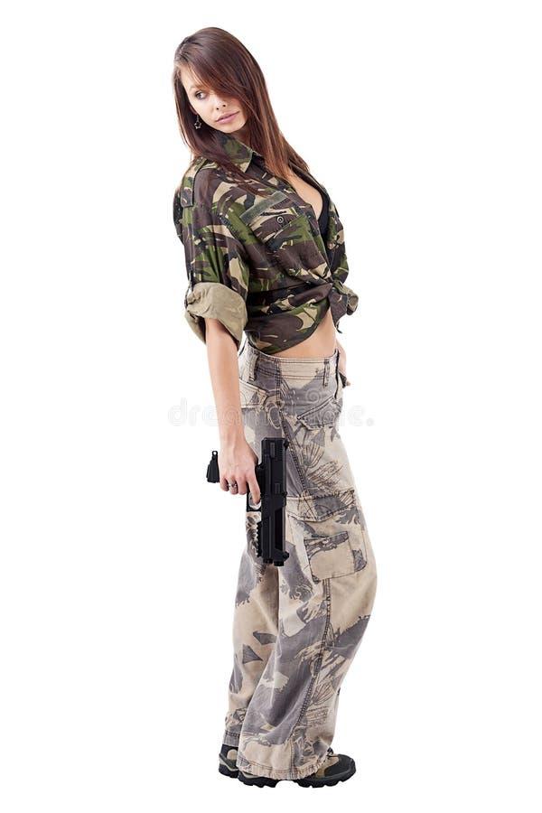 воиска девушки армии стоковые фото