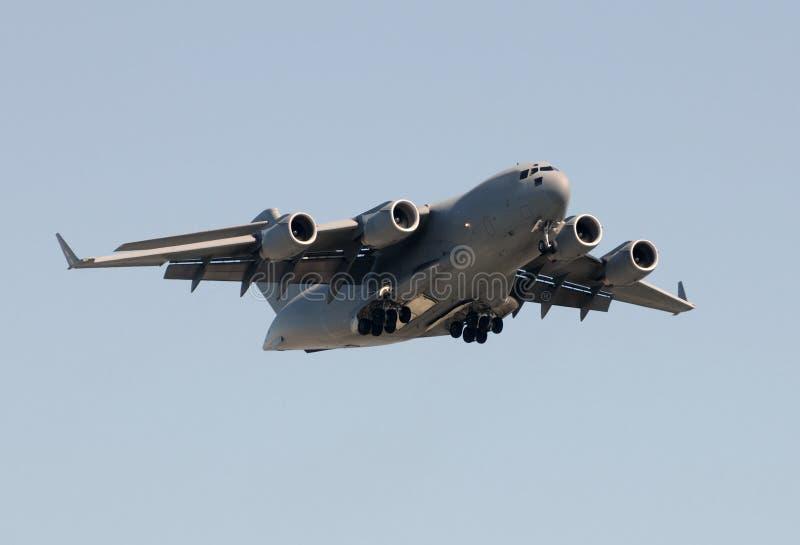 воиска тяжелого реактивного самолета груза стоковая фотография