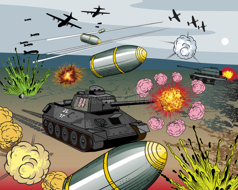 война взрыва книги шуточное бесплатная иллюстрация