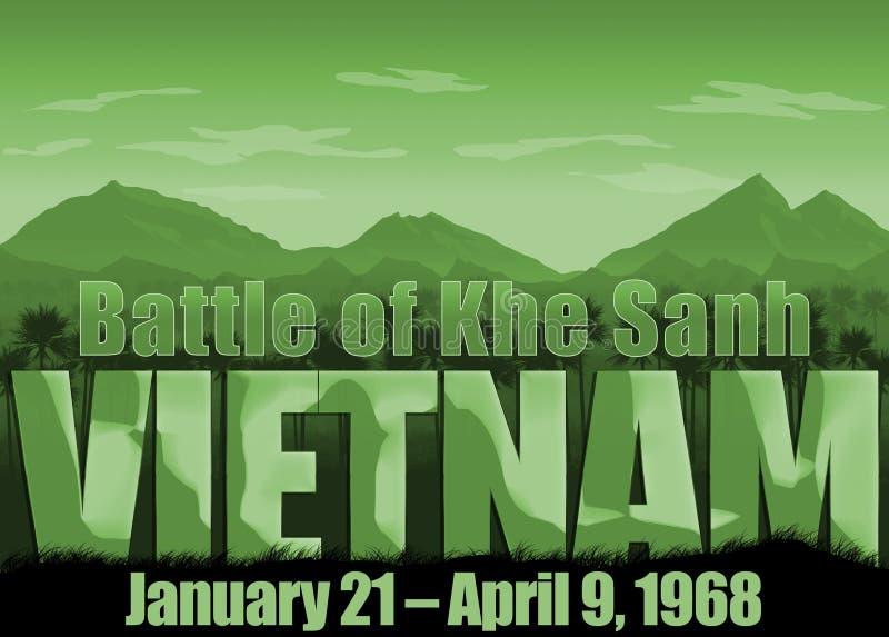 Война во Вьетнаме, сражение дня памяти погибших в первую и вторую мировые войны Khe Sahn бесплатная иллюстрация