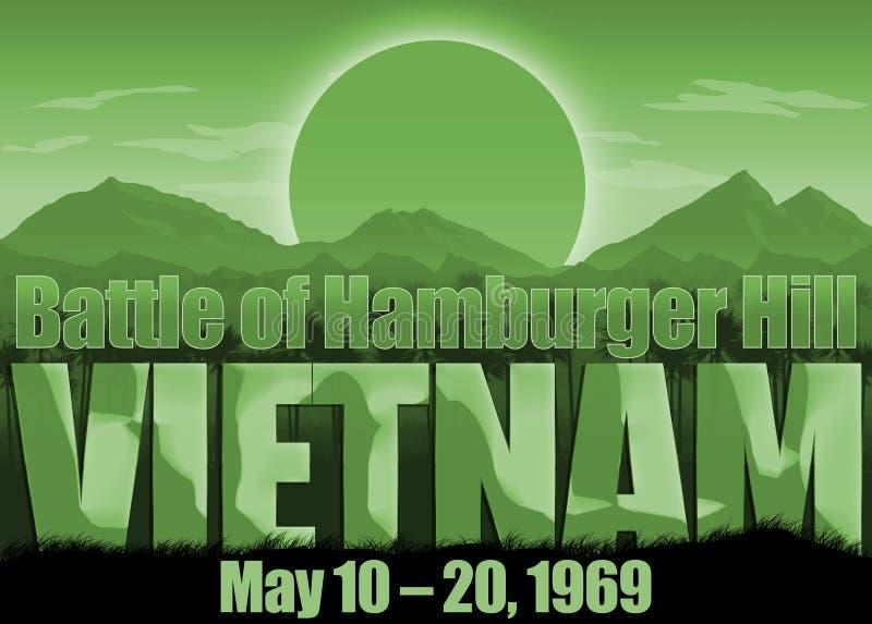 Война во Вьетнаме, холм гамбургера, день памяти погибших в первую и вторую мировые войны иллюстрация вектора