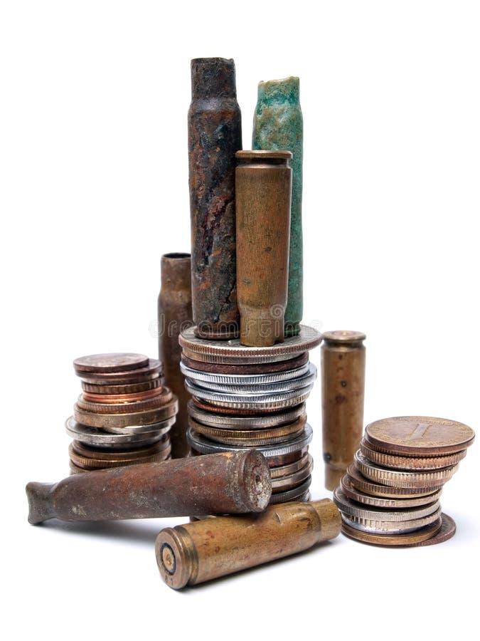 Война и деньги стоковая фотография