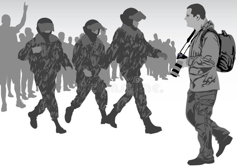 война фотографа иллюстрация вектора