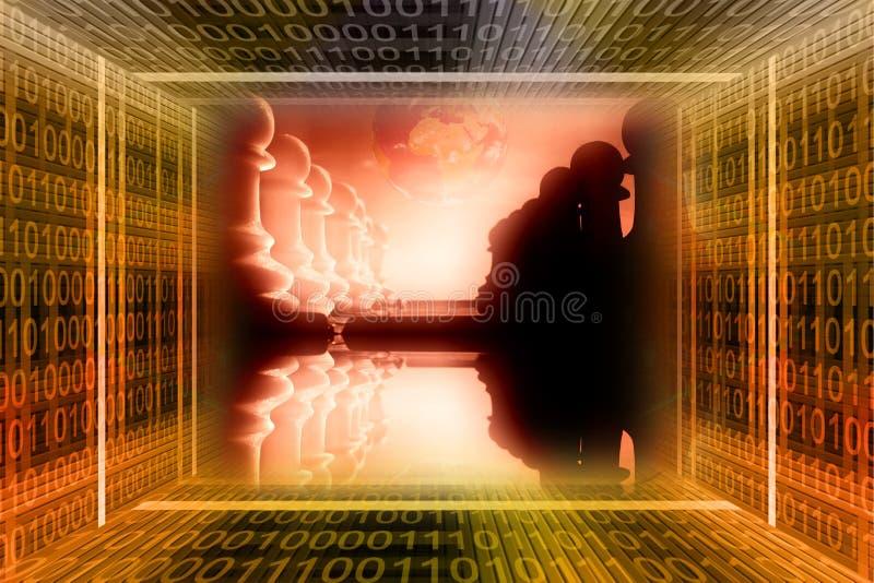 война concep цифровое промышленное бесплатная иллюстрация