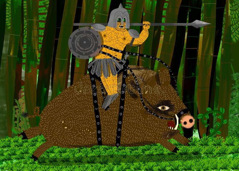 Download война Riding Ork Lancer хряка Иллюстрация штока - иллюстрации насчитывающей перчатки, самолет: 18384319