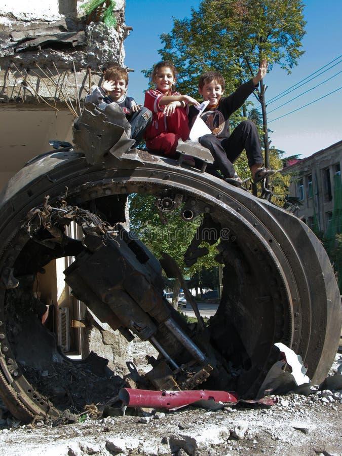война tskhinvali osetia южное стоковые изображения rf