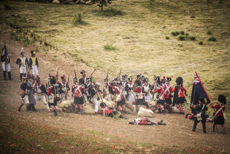 Войска атакуя на поле брани стоковое фото rf