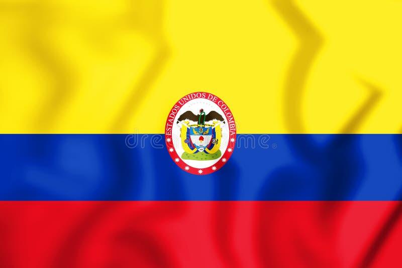 Войска сигнализируют и военноморской ensign Соединенных Штатов Колумбии иллюстрация вектора