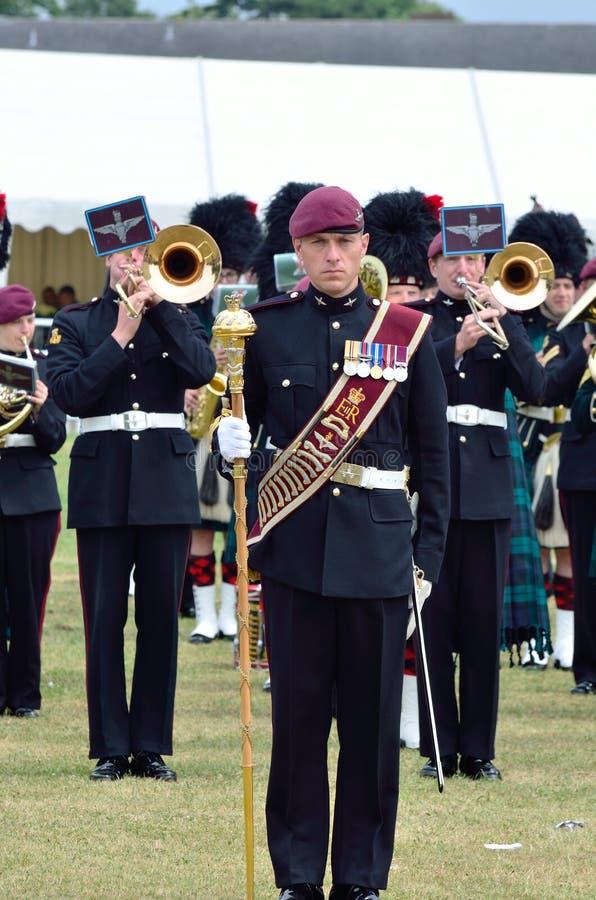 Войска татуируют COLCHESTER ESSEX Великобританию 8-ое июля: Bandsmen на параде стоковое фото rf