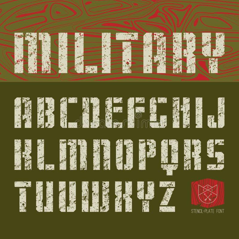 войска шрифта Sans Serif Восковк-плиты иллюстрация штока