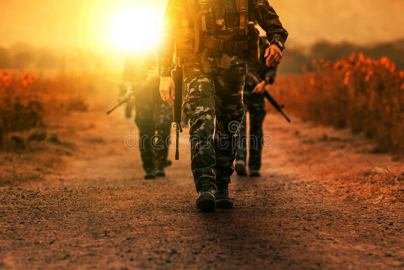 Войск долгосрочной армии войск патруля стоковые фотографии rf