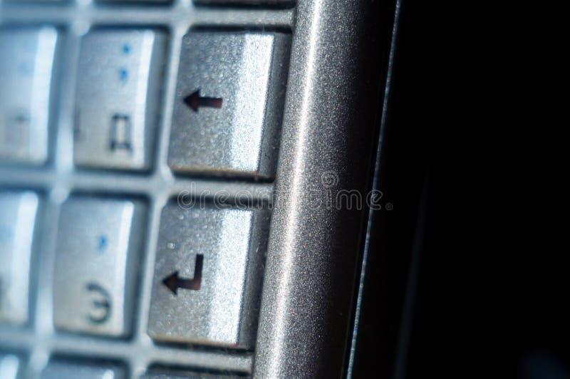 Войдите кнопку на keyb старого smartphone польностью стандартно расположенном стоковые фотографии rf
