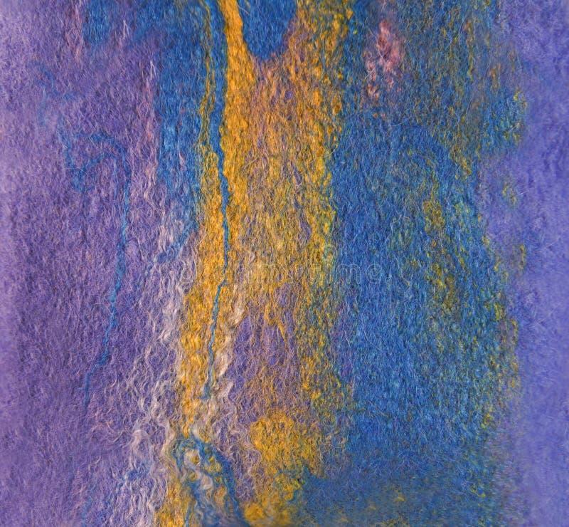 Войлок волокон шерстей и шелка сделанных влажным войлокованием Имитация  стоковая фотография