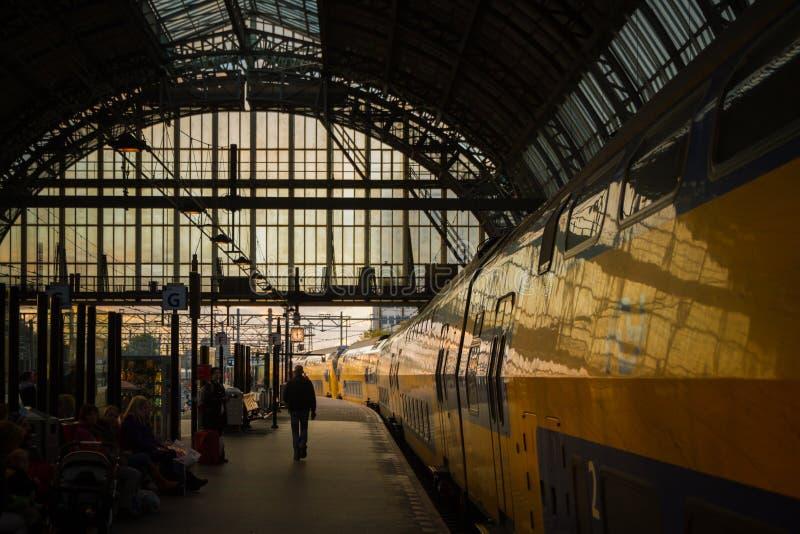 Вокзал Амстердама Centraal стоковые изображения