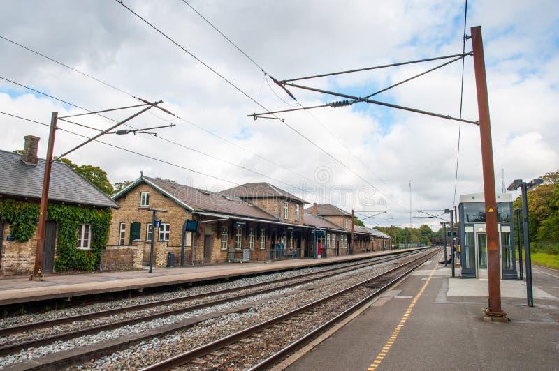 Вокзал в городке Soro в Дании стоковые изображения