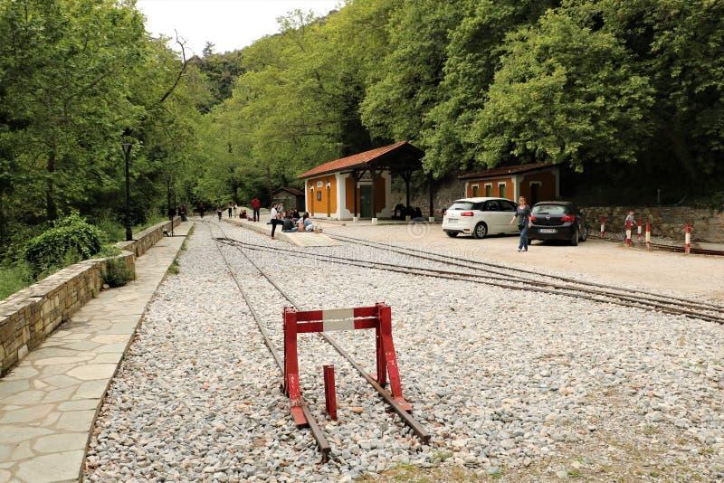 Вокзал в Milies, Греции стоковые фото