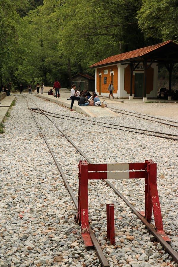 Вокзал в Milies, Греции стоковые изображения