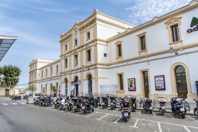 Вокзал Ла Geltrú Vilanova i, Испании стоковое изображение rf