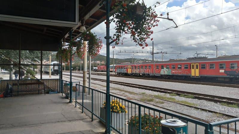 Вокзал Sezena стоковое изображение