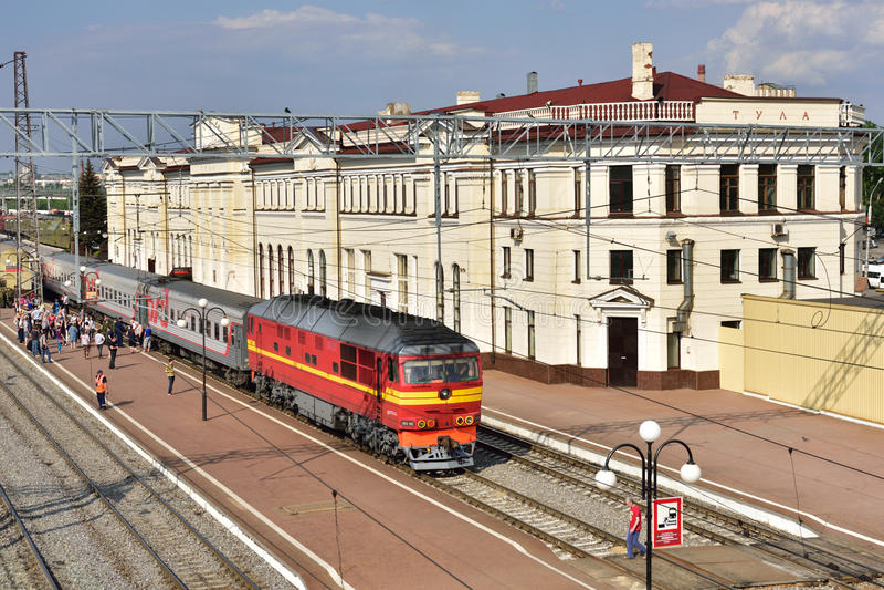 Вокзал Тулы, России стоковые фотографии rf