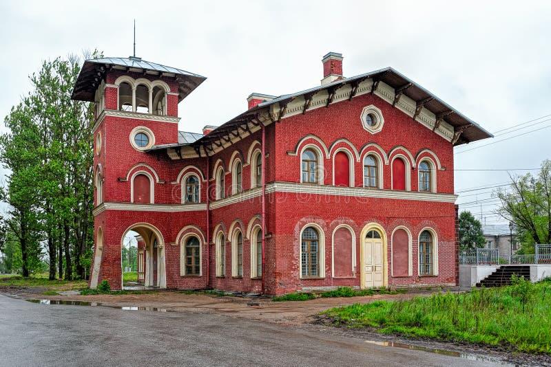 Вокзал Strelna стоковое фото rf